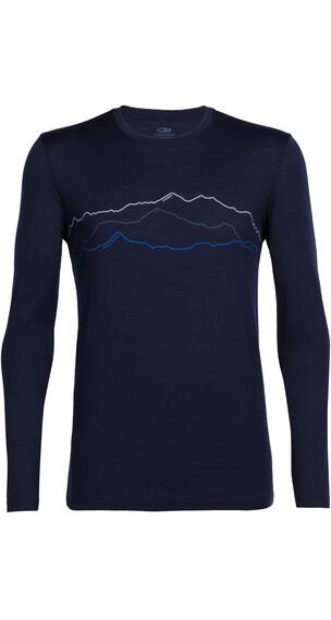 Icebreaker Tech Lite Maglietta a maniche lunghe Uomo blu